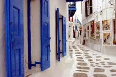 Mykonos beautiful town streets