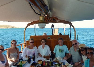 sailing in mykonos greece with yoga escapes