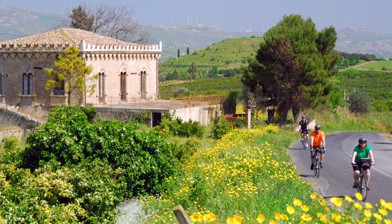 Biking in Sicily countryside