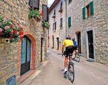 Biking in Sicily streets