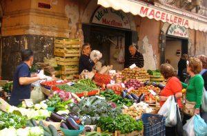 street market in sicily on a yoga retreat