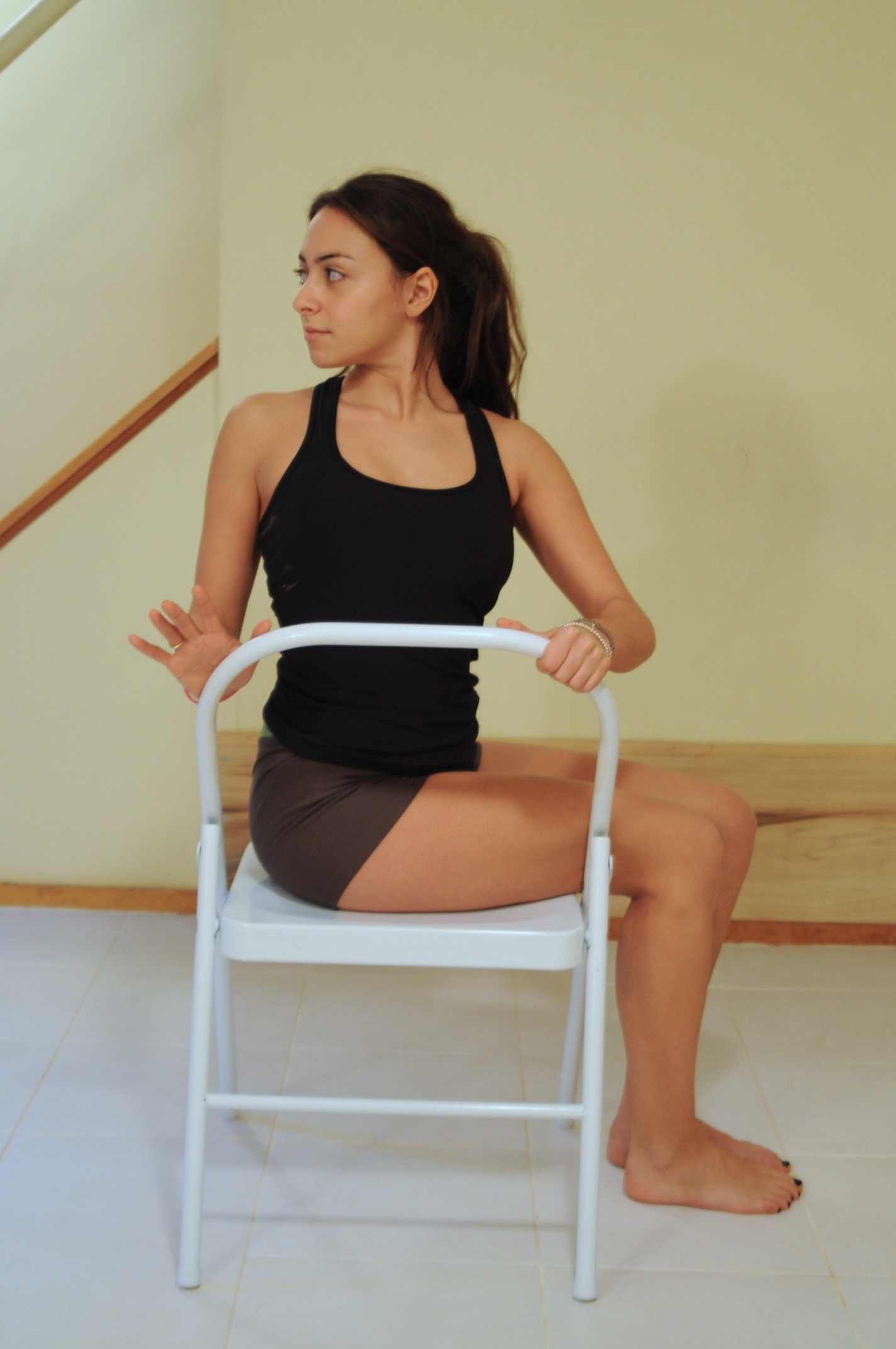 Yoga technique of the Seated Spinal Twist