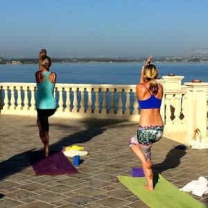 Yoga balancing pose is ideal for losing weight