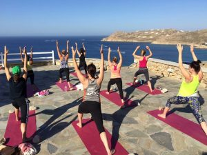 yoga class in greece with yoga escapes
