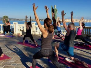 yoga class sicily italy with yoga escapes