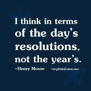 days resolutions
