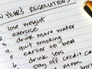 new years resolutions january
