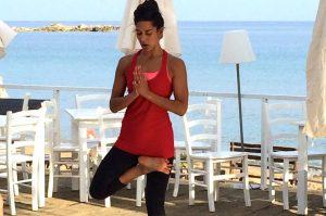 tree pose in crete with yoga escapes