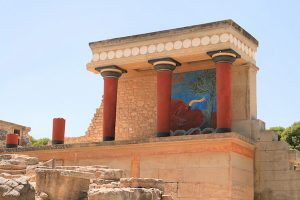 knossos palace in crete greece