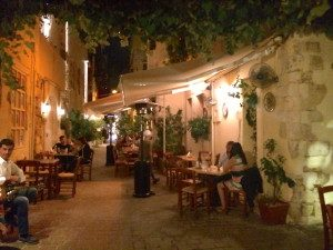 outdoor restaurant in crete greece