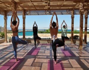 Yoga class on a Luxury Beach Yoga Retreat In Egypt