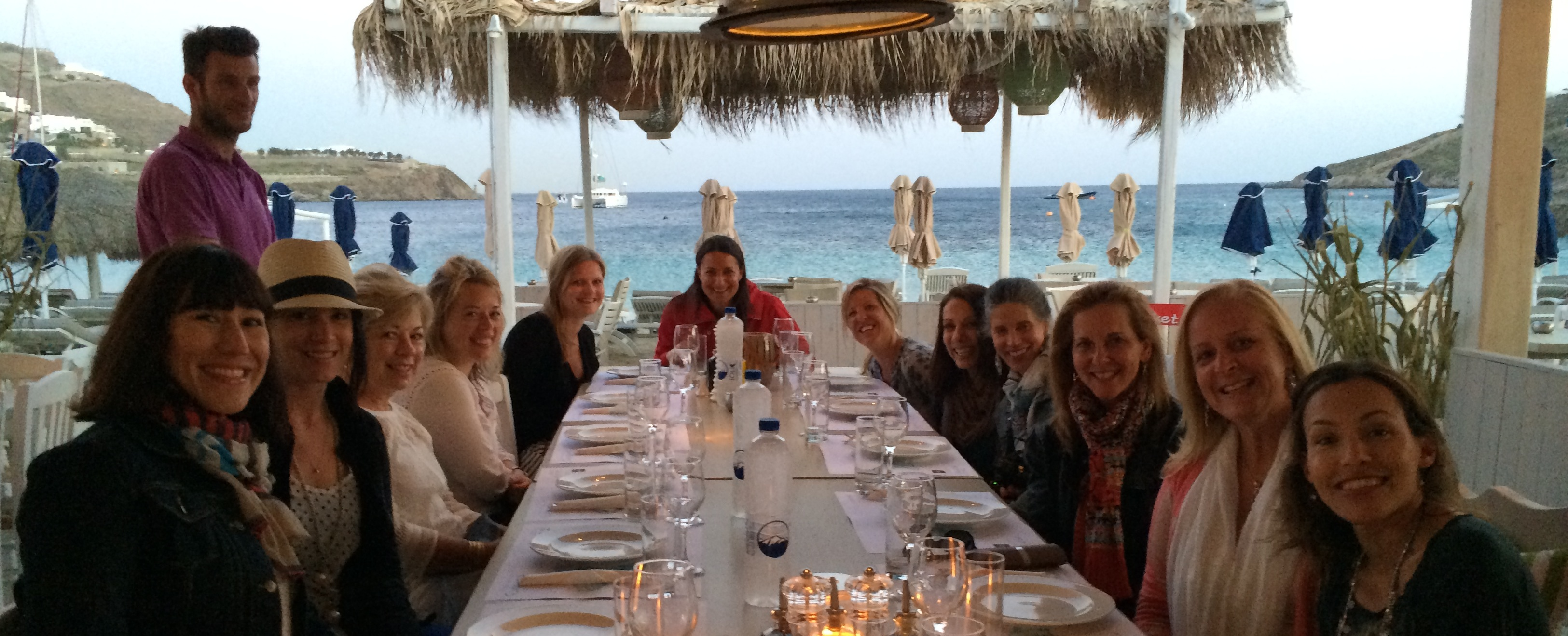 Dinner on a Yoga Holiday with Yoga Escapes