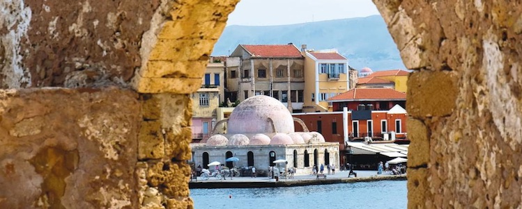 View of Chania town in Crete