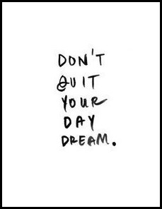 do't quit your day dream