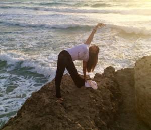 Evening sunset yoga Crete at Yoga Escapes