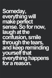 Someday Everything Will Make Perfect Sense, quote