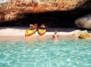 Kayaking in Cala Galdana Menorca