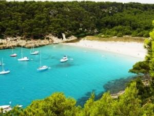 Cala Trebaluger resort in Menorca, Spain