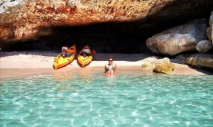kayaking in cala galdana menorca spain