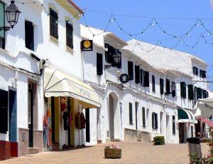 wander along the streets of binibeca in menorca spain