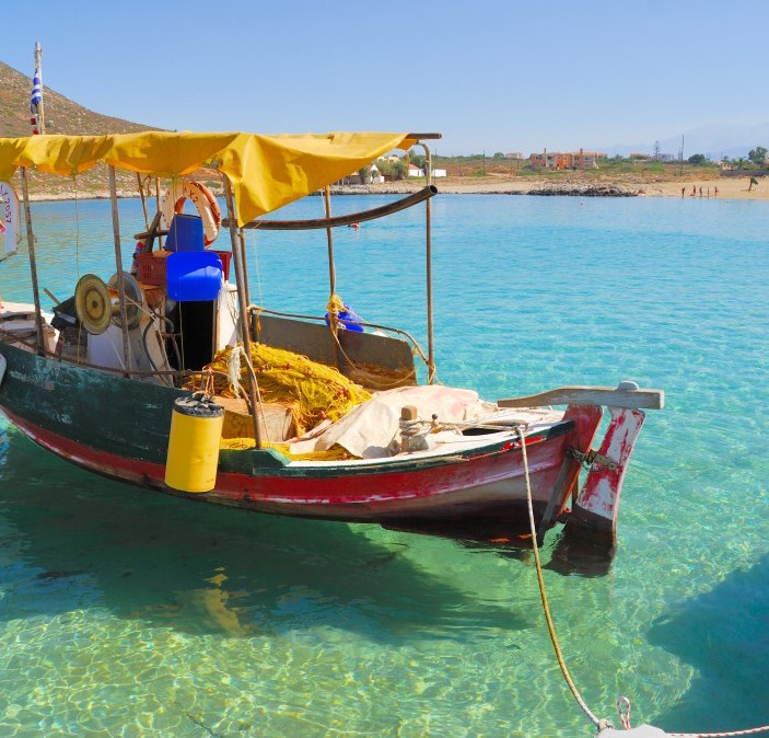 Fishing Boat on Stavros Beach