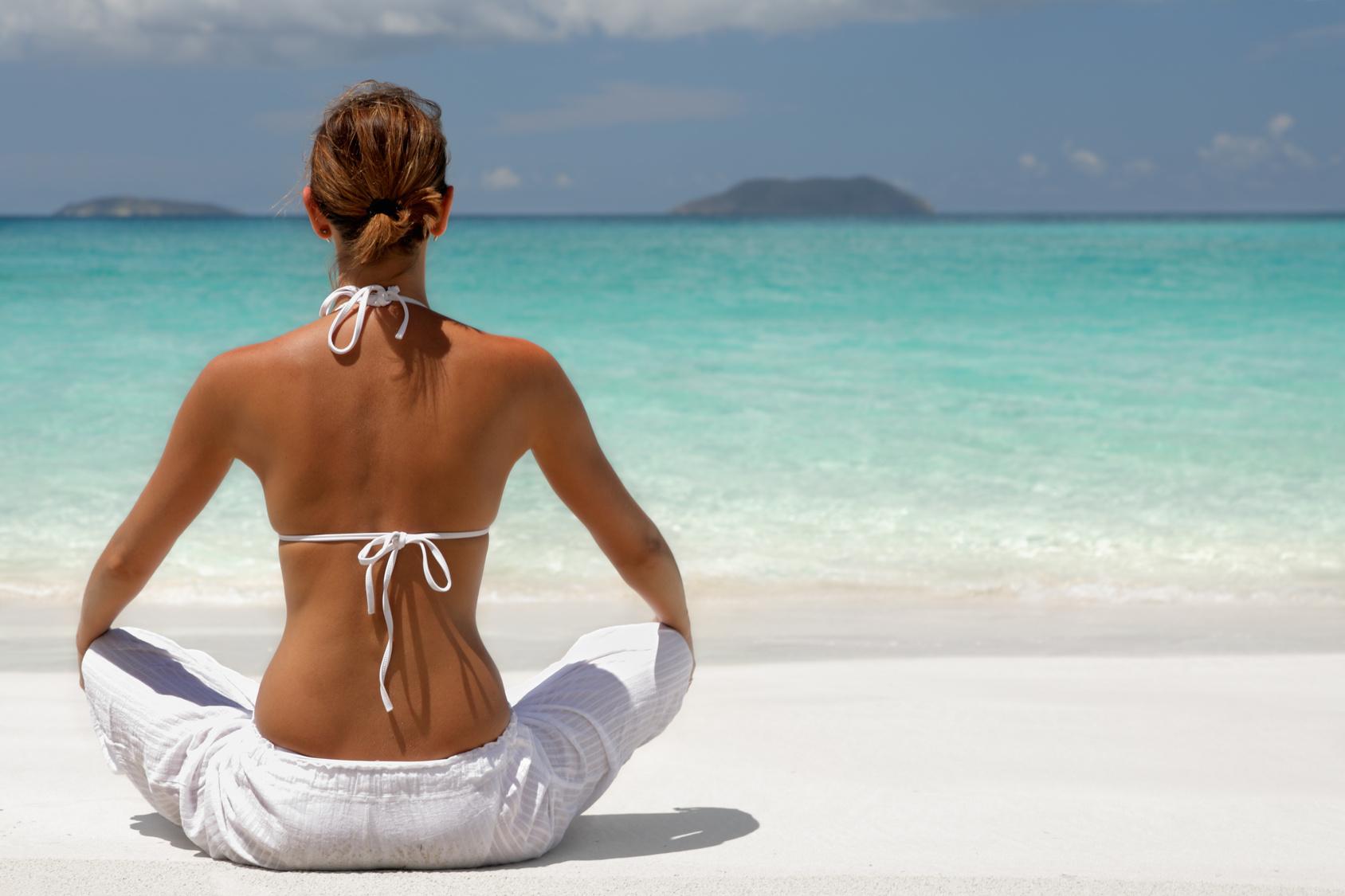 tropical meditation on the beach