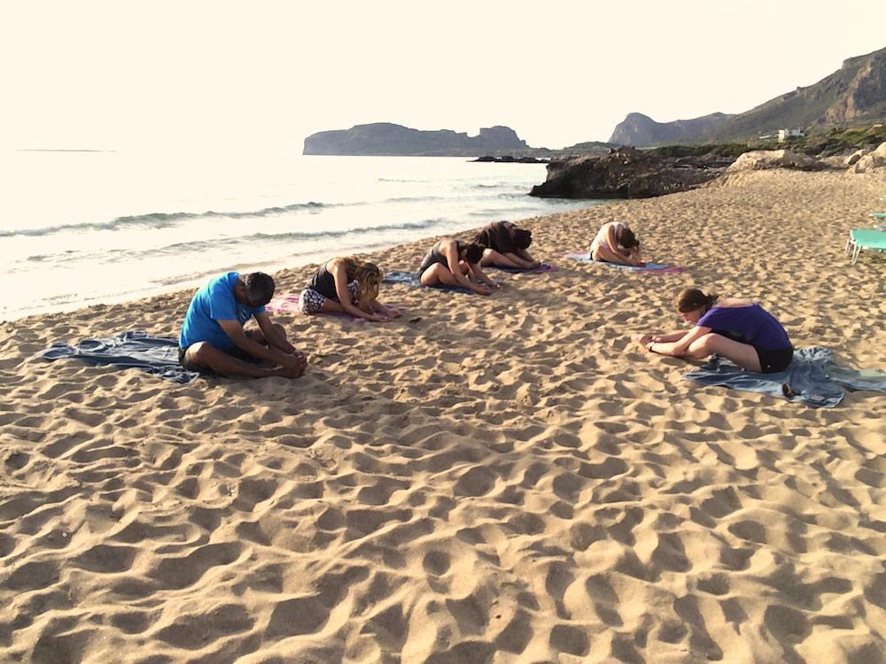 Evening restorative yoga
