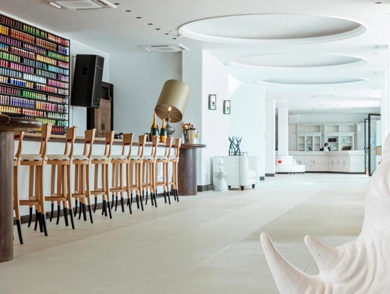 hotel lobby 5 star hotel on a luxury yoga retreat in mykonos greece