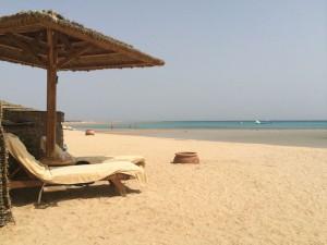 Relaxing on the beach Egypt Yoga Retreat