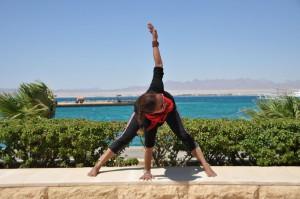 Standing Twist Egypt Yoga Retreat