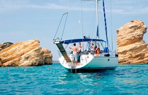 sailing in greece on a luxury yoga retreat with yoga escapes