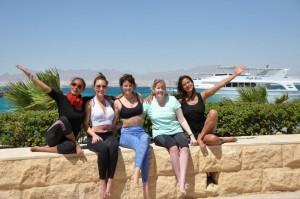Yoga Group Pose Egypt Yoga Retreat