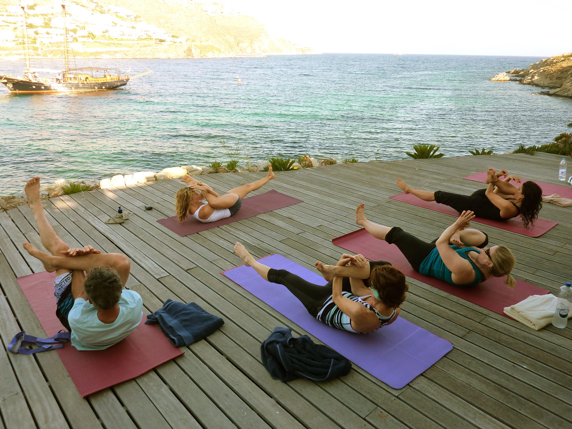 Yoga by the sea Mykonos Greece