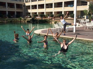Aqua fitness at the Kalliston Atlantica Hotel in Crete.
