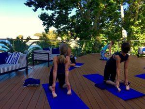 Backbends on a Spain yoga retreat.