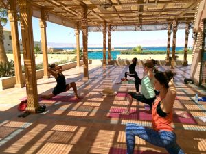 yoga classes with tania brown on a yoga retreat in egypt