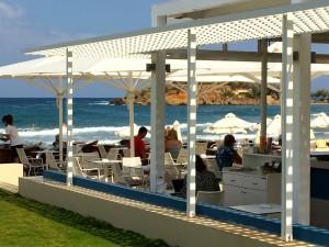 Beach Bar Kalliston Atlantic in Crete Greece on a Luxury Yoga Retreat with Yoga Escapes