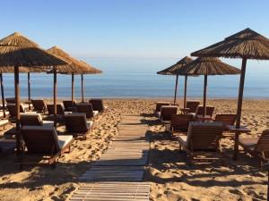The beach at the Kalliston Atlantica in Crete.