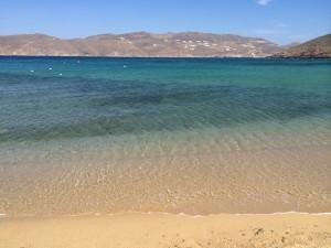 Beautiful Clear Sea and stunning views at Mykonos beach