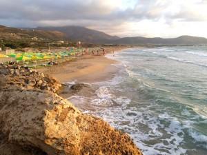Sunset at the beautiful Falasarna beach.