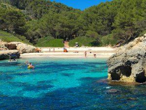 beautiful beaches on menorca spain