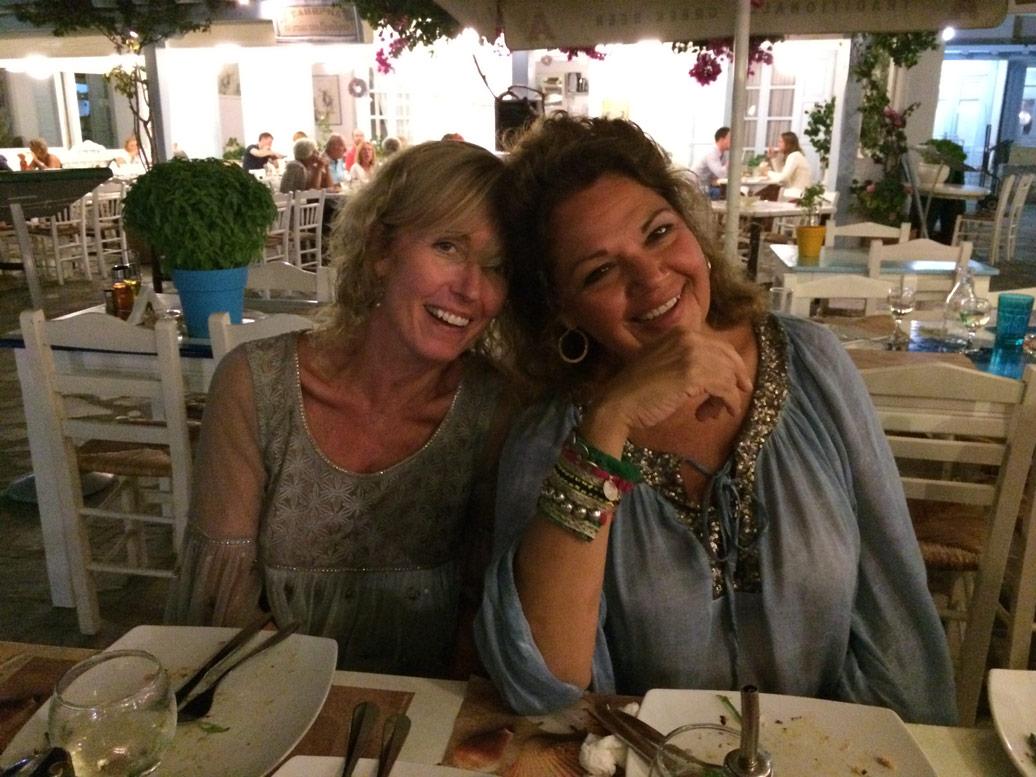 Bev and Marilyn in Mykonos