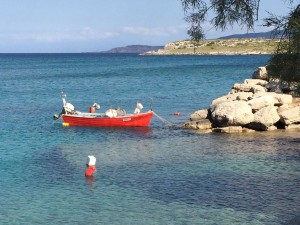 Lovely red boat in the gorgeous Crete escape.