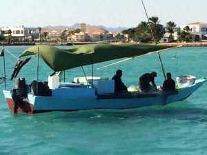 Boat trip in Egypt with Yoga Escapes.