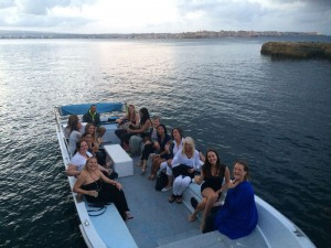 A boat trip in Ortigia, Sicily.