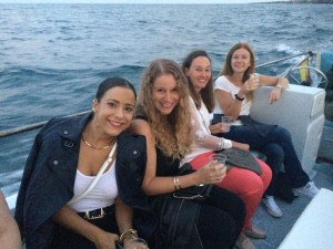 boat trip yoga group italy