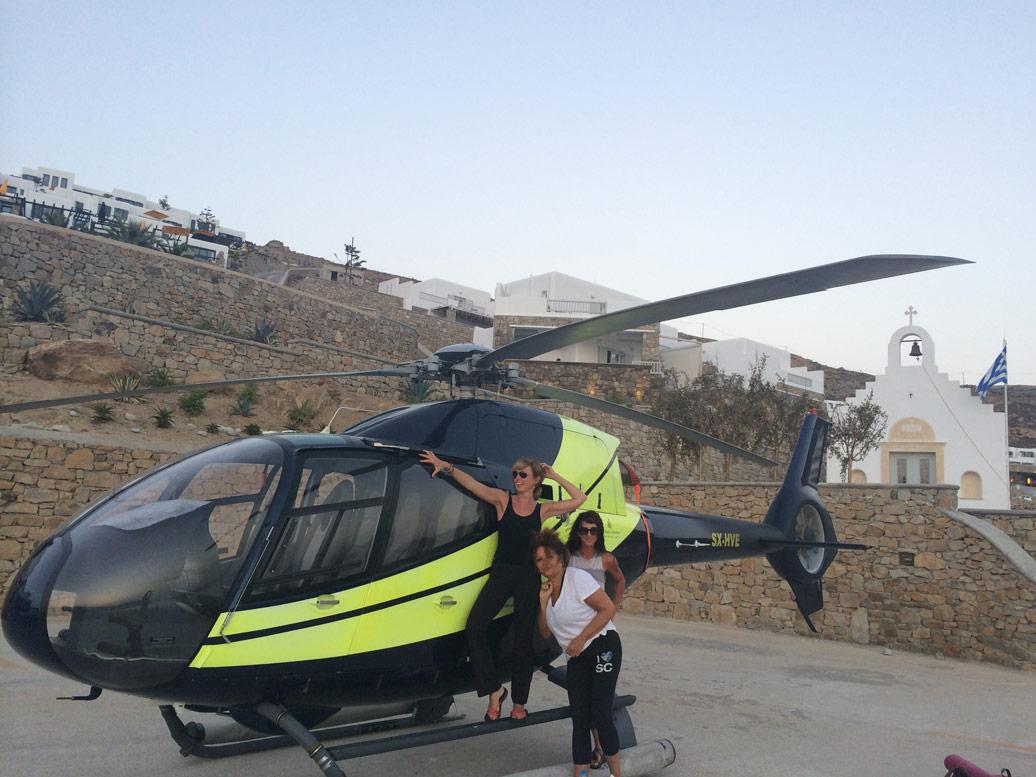 Bond girls in Mykonos