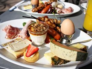 breakfast on a yoga retreat in menorca spain