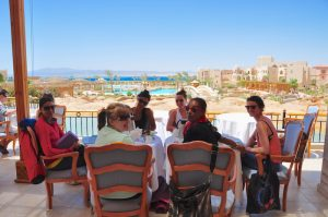 breakfast on a luxury yoga retreat in egypt