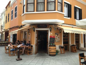 Cafe in Menorca, Spain.